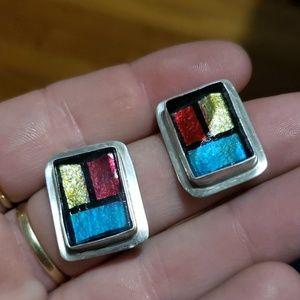 Sterling~Vintage earrings